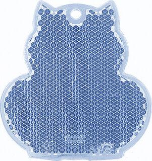 Heiastin kissa 57x59mm sininen