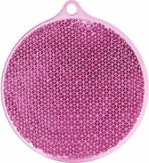 Heiastin pyöreä 55x61mm pinkki