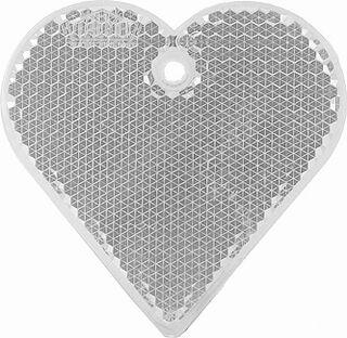 Heiastin sydän 57x57mm kirkas